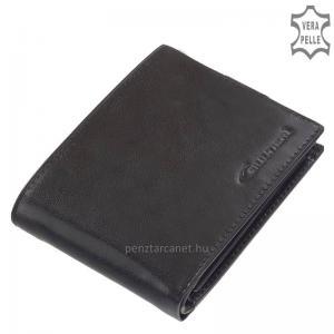 Bőr pénztárca RFID védelemmel fekete Giultieri RF09
