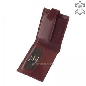 Bőr pénztárca RFID védelemmel világosbarna Giultieri RF09/T
