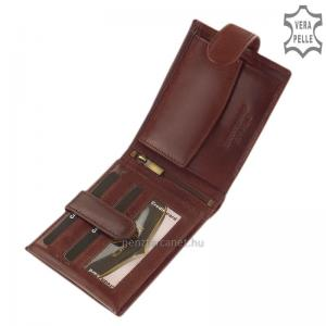 Bőr pénztárca RFID védelemmel világosbarna Giultieri RF6002L/T