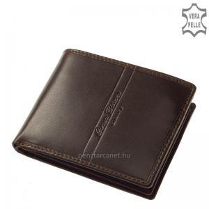 Corvo Bianco Luxury bőr férfi pénztárca CBS09 barna