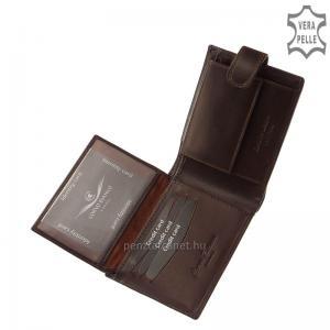 Corvo Bianco Luxury bőr férfi pénztárca CBS09/T barna