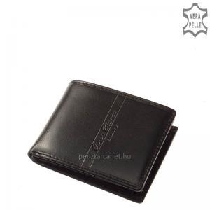 Corvo Bianco Luxury bőr férfi pénztárca CBS102 fekete