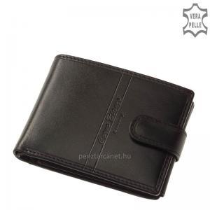 Corvo Bianco Luxury bőr férfi pénztárca CBS1021/T fekete