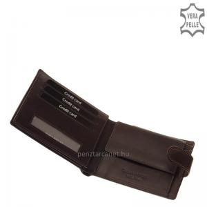 Corvo Bianco Luxury bőr férfi pénztárca CBS1027/T barna