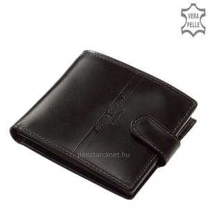 Corvo Bianco Luxury férfi bőr pénztárca CBS298 fekete