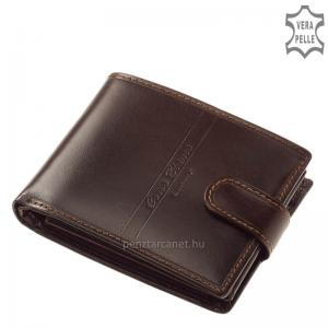 Corvo Bianco Luxury férfi bőr pénztárca ECBS1021/T barna