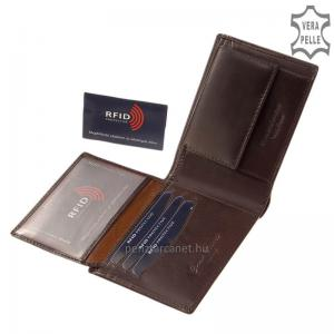 RFID Corvo Bianco Luxury bőr férfi pénztárca RCBS09 barna