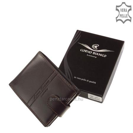Corvo Bianco Luxury bőr férfi pénztárca CBS102/T sötétbarna