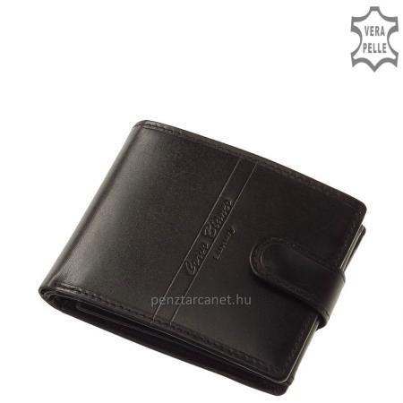 Corvo Bianco Luxury bőr férfi pénztárca CBS6002L/T fekete