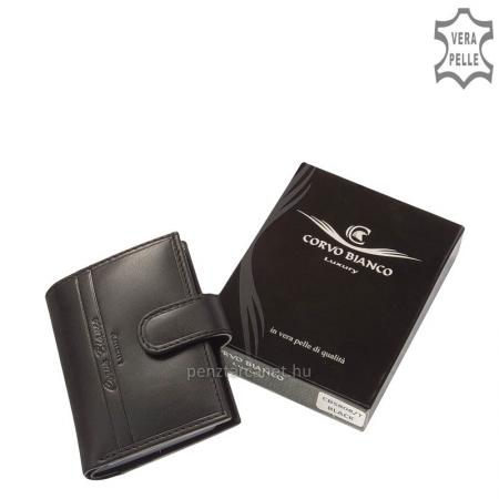 Corvo Bianco Luxury bőr kártyatartó CBS808/T fekete