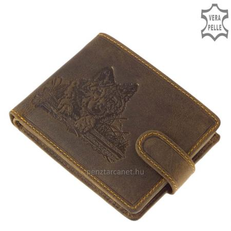 Férfi pénztárca farkas mintával GreenDeed WOLF9641/T