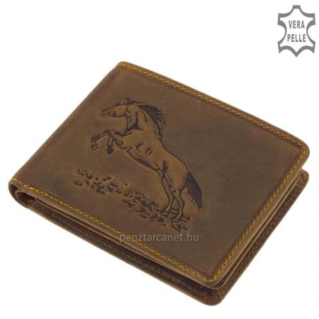 GreenDeed férfi pénztárca ugró lovas mintával ALU09