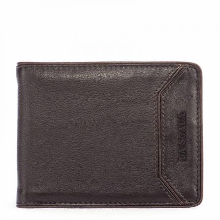 La Scala férfi bőr pénztárca barna-v.barna 15401/O