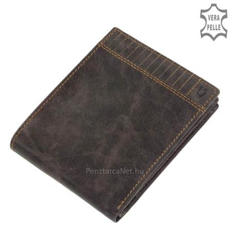 Valódi bőr férfi pénztárca barna Giultieri SLP120